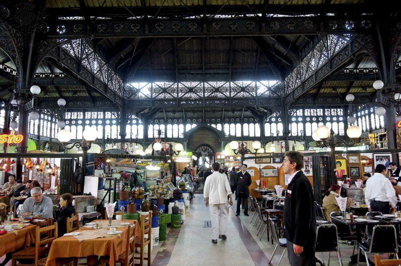 Mercado Central em Santiago do Chile